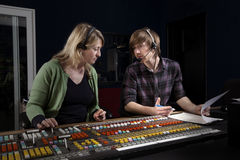 Vision Mixer and Director in TV Gallery Stock Image