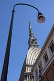 Vision of the Mole in Turin. View of the city of turin Stock Image