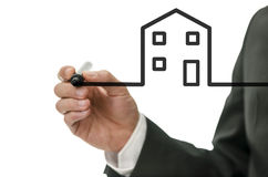 Vision of new house Stock Photography