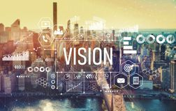 Vision with New York City stock photo