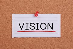 Vision Note Royalty Free Stock Images