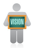 vision people board sign concept Royalty Free Stock Images