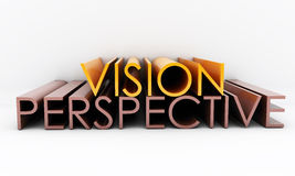 Vision perspective. 3d text with the words vision  and perspective Stock Image
