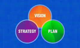 Vision plan and strategy graphics on black background Royalty Free Stock Photography