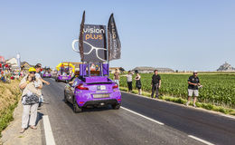 Vision Plus Vehicle. Ardevon, France- July 10, 2013: Vision Plus vehicle during the passing of the publicity caravan in the stage 11 of the edition 100 of Le stock image