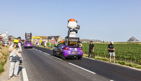 Vision Plus Vehicle. Ardevon, France- July 10, 2013: Vision Plus vehicle during the passing of the publicity caravan in the stage 11 of the edition 100 of Le stock photos