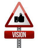 vision road sign illustration design Stock Photos