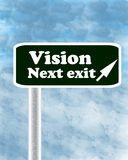 Vision sign post Stock Photos