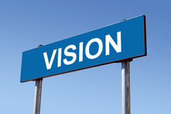 Vision signpost Stock Photo
