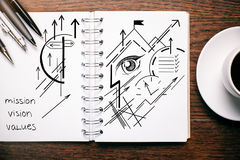 Vision sketch in notepad Royalty Free Stock Image
