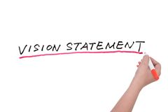 Vision statement words Royalty Free Stock Photo