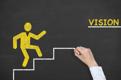 Vision Step Concept Drawing on Blackboard Royalty Free Stock Photography