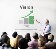 Vision Strategy Planning Direction Aspirations Concept Stock Photos