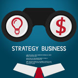 Vision and strategy for success business. vision concept Stock Images