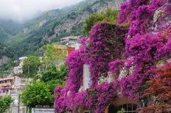 Vision sur la côte d'Amalfi image libre de droits