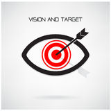 Vision and target concept ,eye symbol,business idea Royalty Free Stock Images