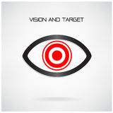 Vision and target concept ,eye symbol,business idea Royalty Free Stock Image