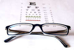 Vision test stock photography