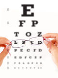 Vision test Stock Images