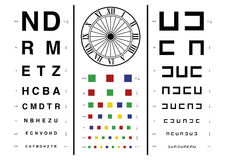 Vision test Stock Photos