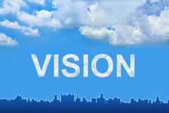 Vision text on clouds Stock Photos