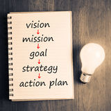Vision to Action Plan Stock Image