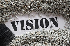 Vision -- treasure word series Royalty Free Stock Photography
