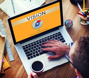 Vision Value Mean Objective Philisophy Target Concept Stock Photos