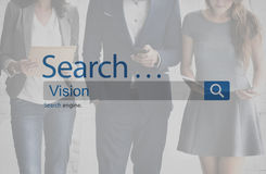 Vision Visionary Imaginary Expection Concept. Businesspeople using smartphone vision visionary imaginary stock image