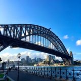Vision von Sydney-Brücke Stockfoto