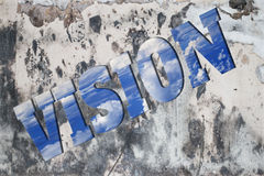 Vision on the wall Royalty Free Stock Image