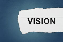 Vision with white paper tears Stock Photo