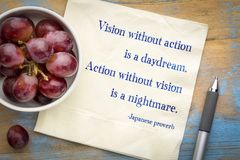 Free Vision Without Action Is A Daydream. Stock Image - 121011181