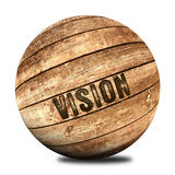 Vision wooden ball Stock Photography