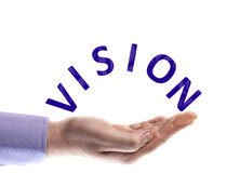 Vision word Royalty Free Stock Image