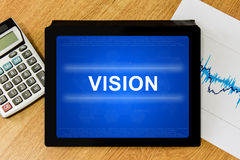 Vision word on digital tablet Stock Photo