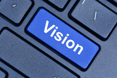 Vision word on keyboard button Royalty Free Stock Images