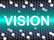 Vision Word Represents Planning Forecasting And Objectives Stock Images