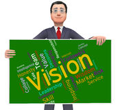 Vision Word Shows Future Goal And Aspire. Vision Word Representing Planning Mission And Aspire royalty free illustration