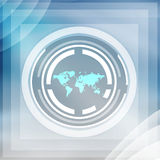Vision Of The World. Futuristic Technology  Background  Focus On  Business World Stock Images