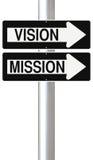 Vision y misión Imagen de archivo libre de regalías