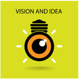 Vision y muestra de las ideas Foto de archivo