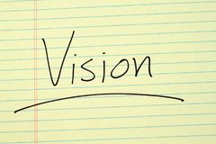 Vision On A Yellow Legal Pad Royalty Free Stock Photos