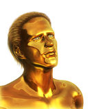 Visionary - Golden Man Royalty Free Stock Images
