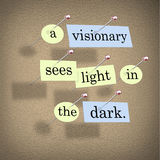 A Visionary Sees Light in the Dark Stock Image