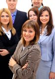 Visionary young business group. Mature business man with his colleagues in the background stock photo