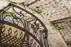 Visione creativa delle ombre e delle siluette sulla via Art Abstract urbano Fotografia Stock