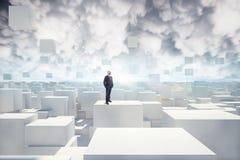 Visione della città futuristica immagini stock libere da diritti