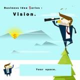 Visione di serie di idea di affari Fotografie Stock