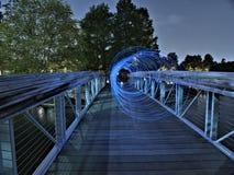 Visione di tunnel blu fotografie stock